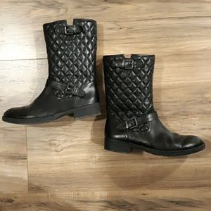 Saks Fifth Avenue Black Label Leather Boots. 8.50